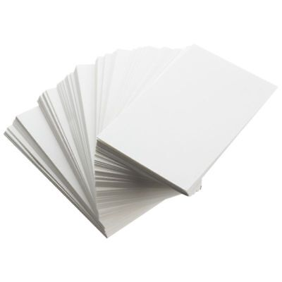 100pcs White Blank Business Cards 129gsm - 90 x 50mm - Print Your Own DTY C W7F4