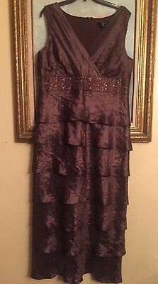 Chocolate Embroidered Mother of the Bride R&M Richards Dress