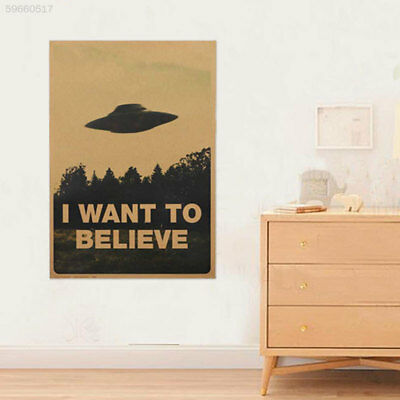 "74B6 Paster Poster Art Room Classic Vintage ""I Want To Believe"" Files Pattern"