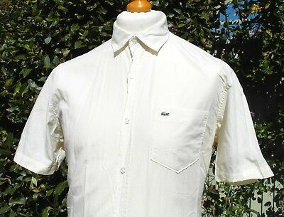 Lacoste Tailored Slim Fit Shirt - L - Size 41 - Ska Mod Scooter Casuals Skins