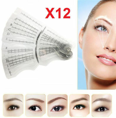 Pro Eyebrow Shaper Template Stencil Shaping Brow Grooming Makeup