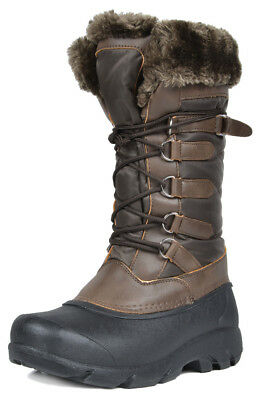 DREAM PAIRS New Women's Full Faux Fur Lined Mid Calf Winter Warm Snow Boots US