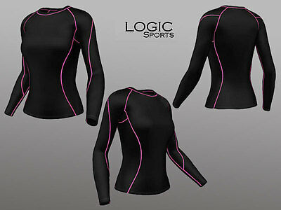 Womens Running Compression Full Sleeve Top