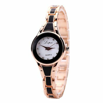 Fashion Waterproof Quartz  Exquisite Watch Gold With Black Shell P036 FN