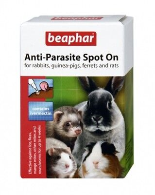 Beaphar Rabbit and Guinea Pig Anti-parasite Spot On 4 Tubes