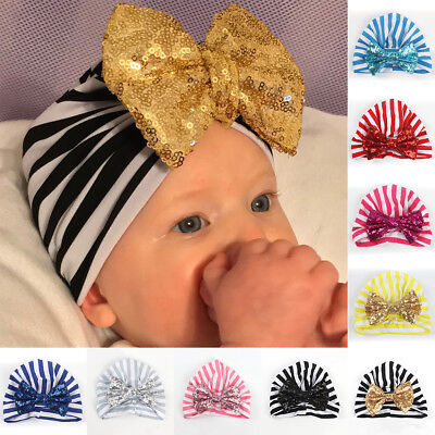 Toddler Kids Girl&Boy Baby Infant Winter Warm Bow Turban Cotton Hat Beanie Cap
