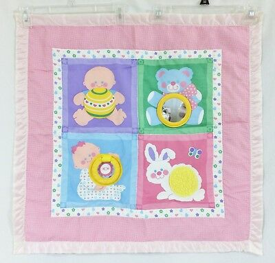 Vintage 1983 Fisher-Price Baby Activity Mat Play Quilt Blanket