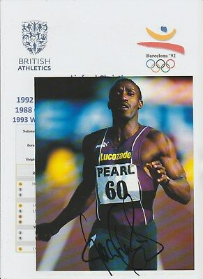Linford Christie Athlete 1992 Olympic Gold Medalist Original Autograph Picture