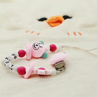 Wooden Bead Dummy Clip Pacifier Clips Dummy Chain Soother Holder For Chew LG