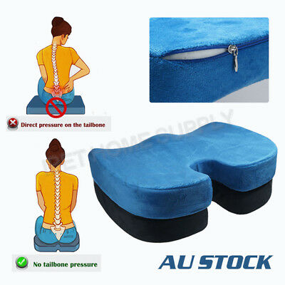 Coccyx Orthopedic Memory Foam Seat Cushion Car Office Seat Lumbar Pain Relief A9
