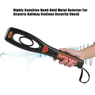 Portable Hand Held Metal Scanner Meter For Airports Railway Security Check