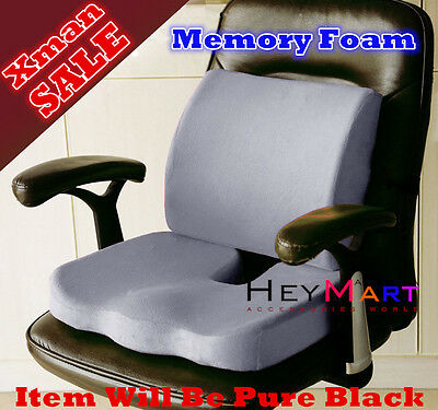 Memory Foam Seat Cushion Lumbar Back Support Orthoped Car Office Pain Relief Y2