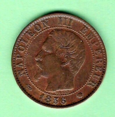 1856 5 centimes France first year of issue Bronze coin!