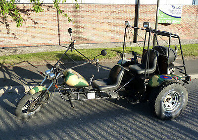 VW Engined Trike, 1300cc, 2 seater, custom paint, new MOT, ready to ride away.