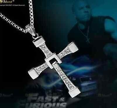"""THE FAST and The FURIOUS Dominic Toretto's CROSS PENDANT 26"""" Chain Necklace"""