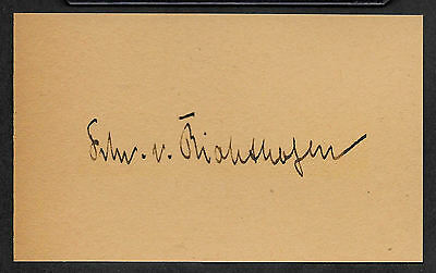 The Red Baron Von Richthofen Autograph Reprint On Genuine WWI 1917 3x5 Card
