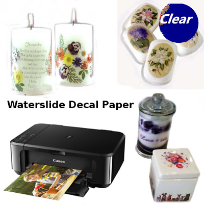 10x WATER SLIDE DECAL TRANSFER PAPER INKJET PRINTING PAPER A4 SIZE