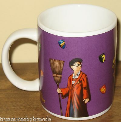 Harry Potter and the Sorcerer's Stone Coffee Mug Quidditch Purple WB 2001