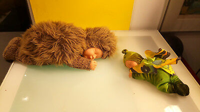 Anne Geddes Plush babies in butterfly and bear costumes good shape