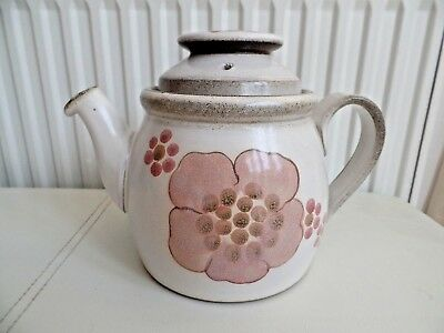Denby Pottery Gypsy Pattern Two Pint Teapot Excellent