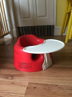 Red Bumbo Seat With Food/play Tray