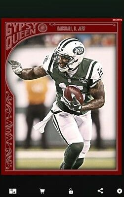 NFL Topps HUDDLE 2016 digital card - gipsy queen red BRANDON MARSHALL cc50 rare!