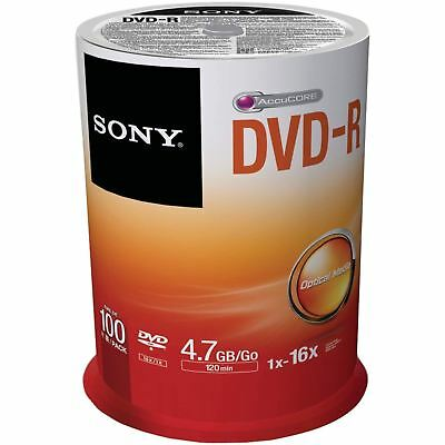Sony DVD-R 120 Minutes 4.7GB 16X Speed Recordable Blank Discs - 100 Pack Spindle