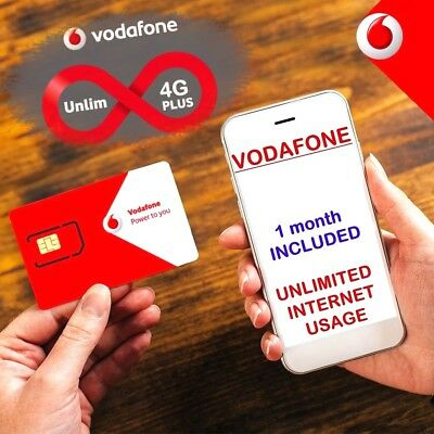 NEW 5GB INCL  LTE Vodafone Ukraine SIM card activated and ready to