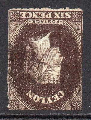 Ceylon 6 Pence Stamp c1863-66 Used SG55aw (wmk inverted) (2)