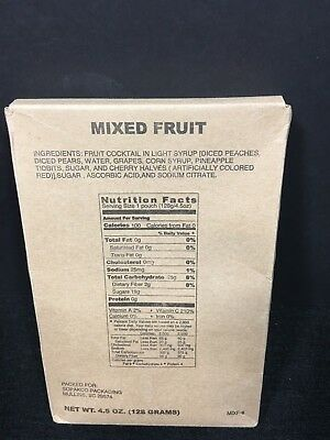 Military Mre Side Mixed Fruit Survival Food Ration Prepper Camping Hiking