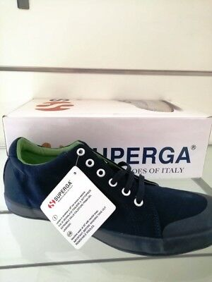 SCARPE SNEAKERS SUPERGA Original S000 Ero Tela Shoes Nuovo 44 - EUR ... cd32557c39f