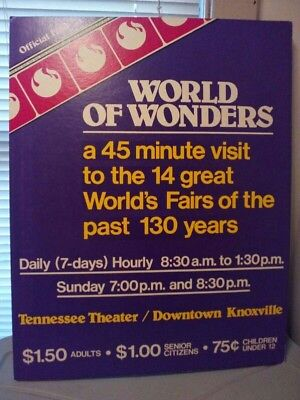 1982 Tennessee World's Fair Cardboard Ad - Local Pick Up Only