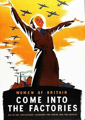 "Wall Art Reproduction Vintage World War Poster Size A2 /""Britain Expects/"""