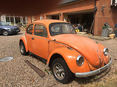 """VW Beetle.  1973 """"L"""".  Spares Renewal Restoration Beach Buggy donor."""