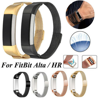 For Fitbit Alta HR Band Replacement Magnetic Loop Strap Stainless Steel Wrist