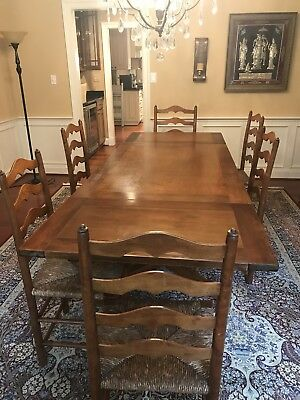 Stickley Cherry Valley Dining Room Set w/ FREE pads and bonus armed chair