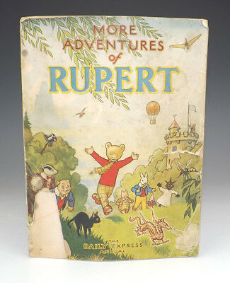 Vintage 1947 More Adventures Of Rupert Annual - Fair Condition - Unusual!