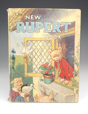 Vintage 1946 The New Rupert Book - Rupert Annual - Fair Condition - Unusual!