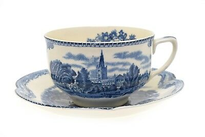 Old Britain Castles Blue Johnson Brothers Cup and Saucer