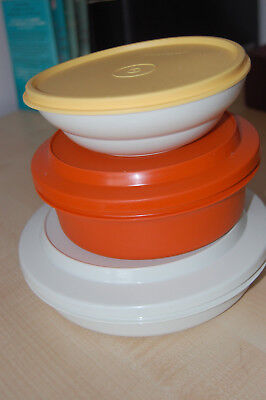 Tupperware mixed lot Plate and bowl / Bowl / Cereal Bowl 3 items