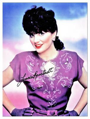 .Linda Ronstadt  Classic Photo from Nelson Riddle Style 8x10 Autograph Reprint
