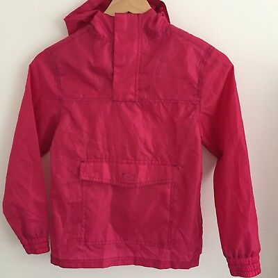 F&f Girls Pink Pull Over Raincoat Jacket 9-10 Years