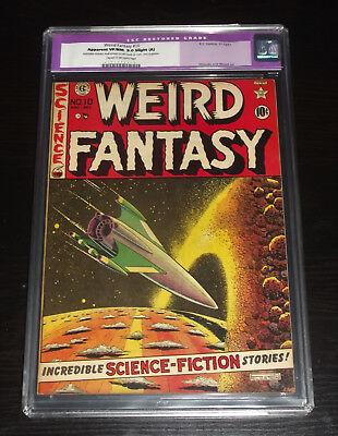 WEIRD FANTASY 10     CLASSIC 1951 CGC GRADED 9.0 small color touch up to cvr.