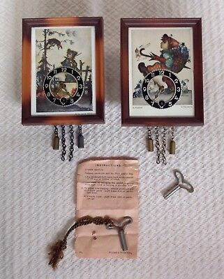 2 Hummel Wind Up Small Clocks Ars Sacra Made In Germany