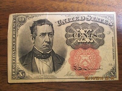 US Fractional Currency, Fifth Series, 10 Cents, Very Fine +