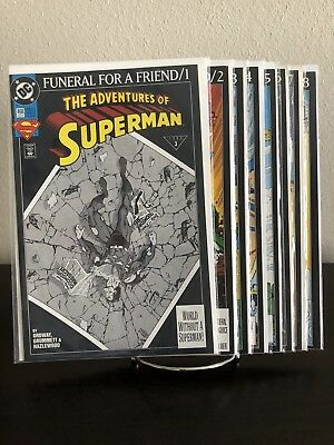 Superman: Funeral For A Friend #1-8 VF/NM complete story