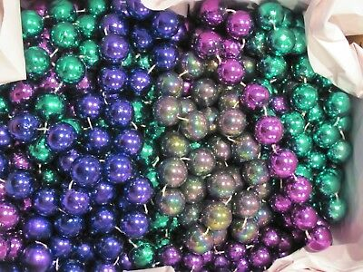 Lot Of 15 Assorted Large Bead (Sizes And Colors) Mardi Gras Beads (Used)