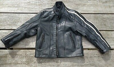 Genuine Lewis Leathers Motorcycle Jacket for Child Age 6 yrs Black Leather