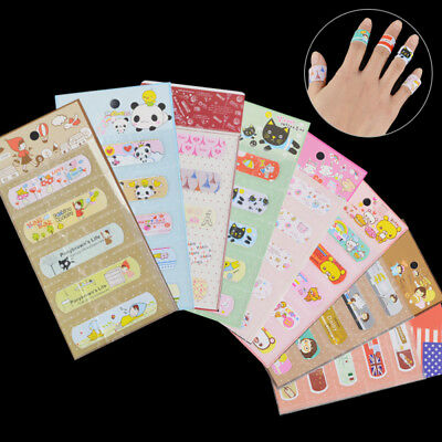 5 Pieces of Various Pattern Bandages Cute Funny Cartoon Band Aid Kid Child Kids