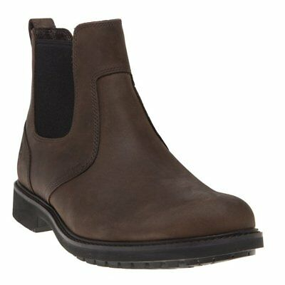 New Mens Timberland Brown Stormbuck Chelsea Nubuck Boots Lace Up